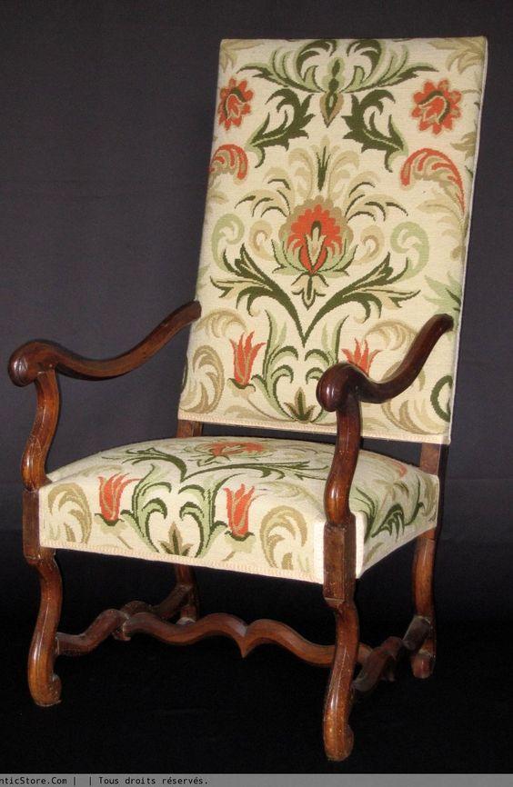 fauteuil os de mouton poque louis xiv 17e si cle et. Black Bedroom Furniture Sets. Home Design Ideas