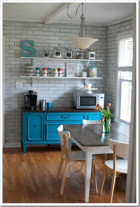 Made More Room In The Kitchen By Creating A Coffee Bar