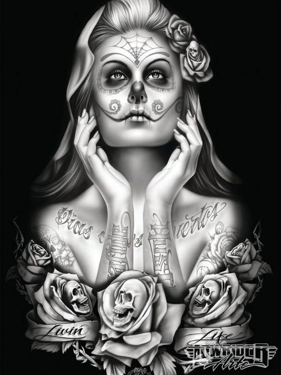 Our Lady Of Death by Lowrider Arte Magazine