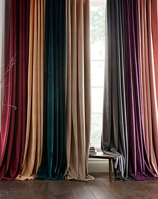 Luxury Velour Pencil Pleat Curtains Velvet Curtains Bedroom Pleated Curtains Layered Curtains