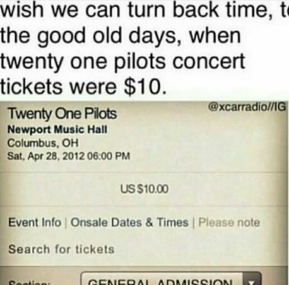 Pin by Emily Snyder on TØP Pinterest Cas, We and The ou0027jays - how to make a concert ticket