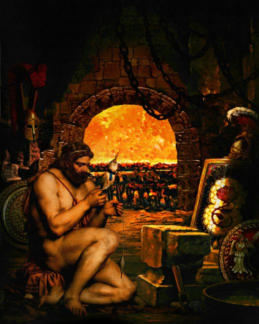 the story of hephaestus a god from the greek mythology Hephaestus definition, the ancient greek god of fire, metalworking, and handicrafts, identified by the romans with vulcan see more.