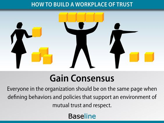 Gain Consensus to build a workplace of trust LinkEmUp - mutual consensus