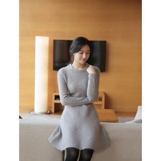 BELLISSIMA - Angora-Wool Blend A-Line Knit Dress
