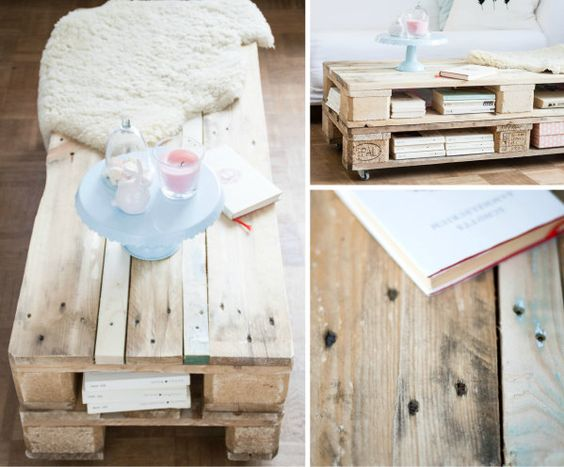 Selbstgebauter Tisch aus Paletten / Table made of pallets / Upcycling