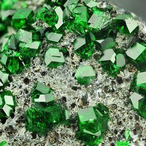 Uvarovite, one of the rarest minerals