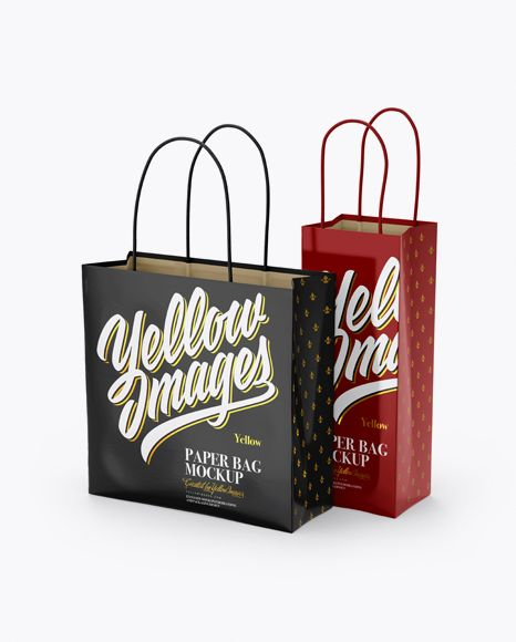 Download Two Glossy Paper Bags Mockup Half Side View In Bag Sack Mockups On Yellow Images Object Mockups Mockup Free Psd Bag Mockup Free Psd Mockups Templates