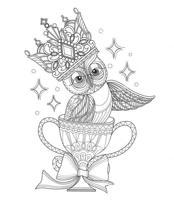 Omeletozeu Owl Coloring Pages Coloring Pages Line Art Vector