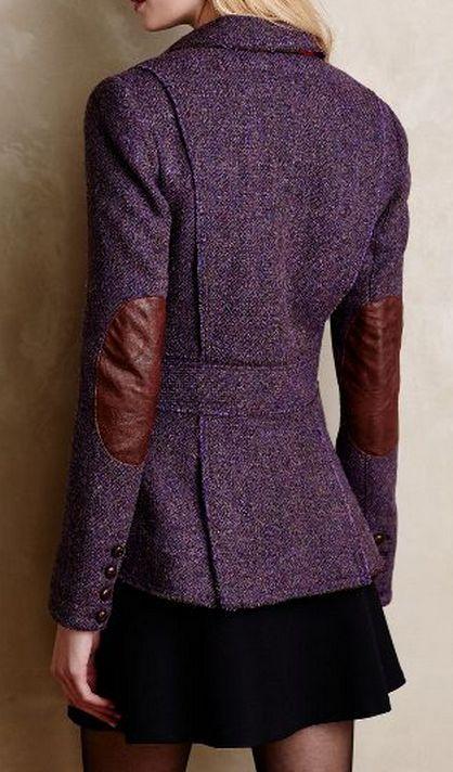 purple tweed blazer  http://rstyle.me/n/v6kn2pdpe