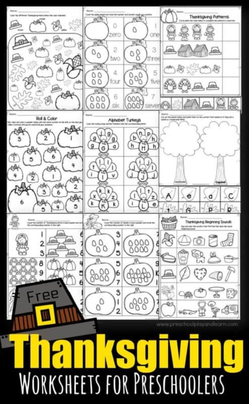 Thanksgiving Theme With Lots Of Free Printables Fun Activities For Kids Thanksgiving Worksheets Preschool Worksheets Thanksgiving Math Worksheets