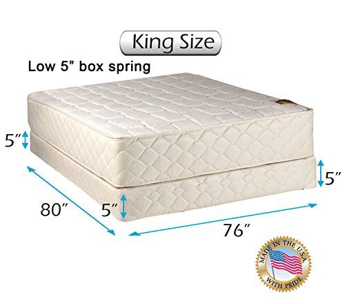 Dream Sleep Grandeur Deluxe King Size 2 Sided Mattress And Low 5 Box Spring Spring Set Mattress