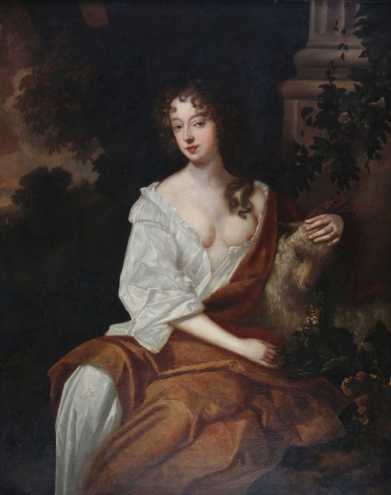 "Nell Gwyn, was a long-time mistress of King Charles II of England. Called ""pretty, witty Nell"" by Samuel Pepys, she has been regarded as a living embodiment of the spirit of Restoration England and has come to be considered a folk heroine, with a story echoing the rags-to-royalty tale of Cinderella."