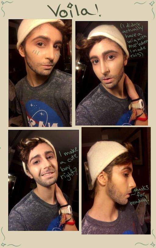"""shear-lockcombs: """" So I came up with this great idea for a fake beard using fiber mascara and I realized there were no tutorials out there for this already. So I made one myself. It works really well..."""