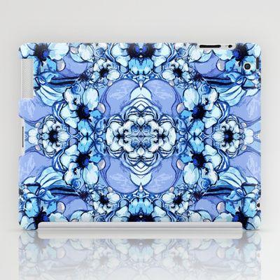 Bleu Fleur iPad Case by Sarah Saeed - $60.00