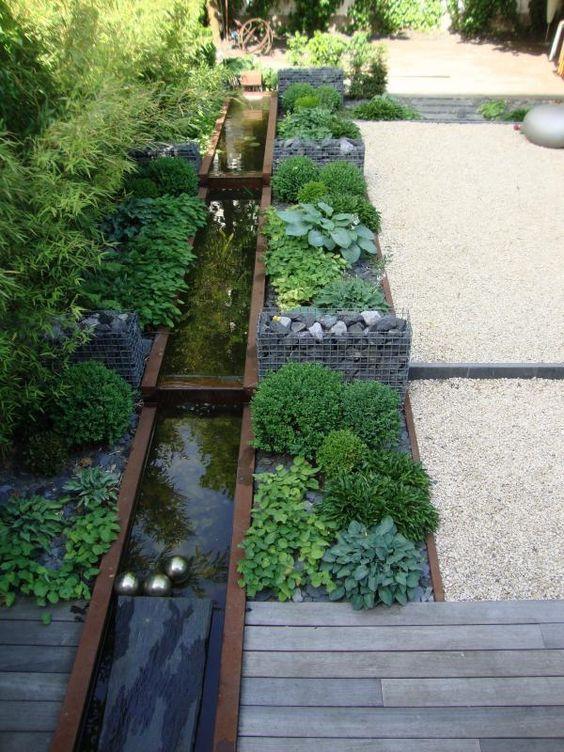 Cortenstaal vijver corten pinterest for Waterpartij in de tuin