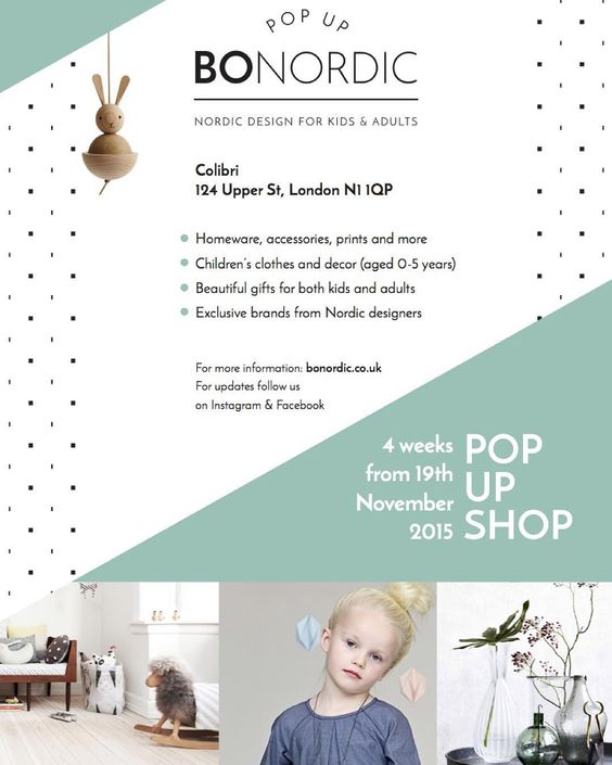 From the 19th November and four weeks we will be hosting a 'shop-in-shop-pop-up-shop' (say that quickly ten times phew) in collaboration with @colibrifashion Upper Street Islington N1. We are beyond excited. We will be selling a handpicked selection of Nordic designed interiors homeware children's clothes and decor alongside Colibri's stunning collection of womenswear shoes and accessories. And just in time for Christmas - how lucky is that?  This flyer has all the details we hope to see you…