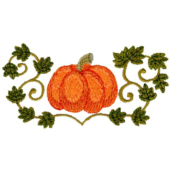 Pumpkin vine vines and embroidery designs on pinterest