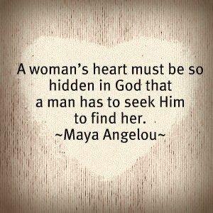 A woman's heart...