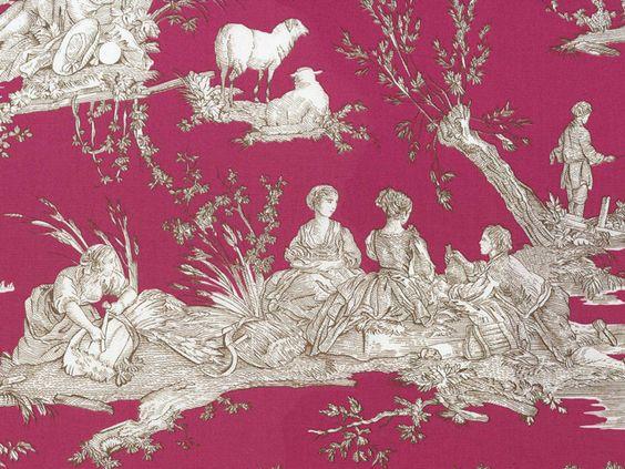 les olivades 39 d lices des quatres saisons toile de jouy rose et brun jouy pinterest toile. Black Bedroom Furniture Sets. Home Design Ideas