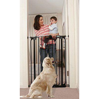 Extra Tall Swing Closed Pet Gate Finish: Black Bindaboo http://www.amazon.com/dp/B0030PA25A/ref=cm_sw_r_pi_dp_vRo6wb1JM63HV