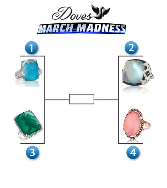 #MARCHMADNESS: Vote for your favorite #dovesjewelry ring. We'll crown the champion based on your votes!