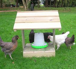 Poultry Feeder Shelter | Chicken Dustbath | Chicken House | Poultry Supplies | Equipment.......ahha so cute i need this!