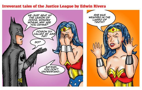 Wonder Woman is upset...