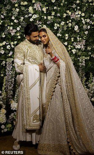 Deepika Padukone And Ranveer Singh S Mumbai Wedding Reception Indian Wedding Outfits Indian Wedding Fashion Indian Bridal Wear
