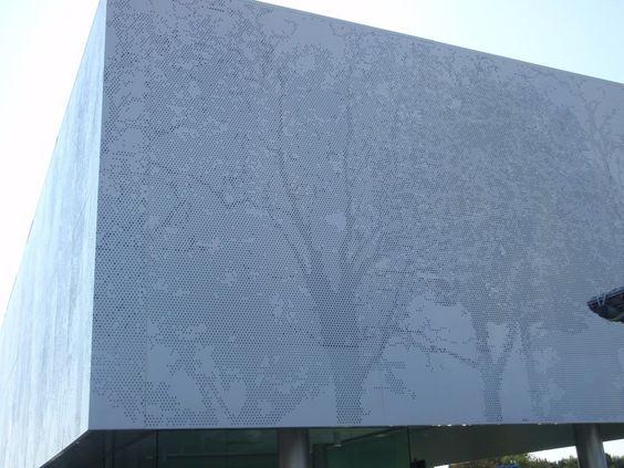 Realizzazione Rivestimento Facciate In Lamiera Forata - Picture gallery