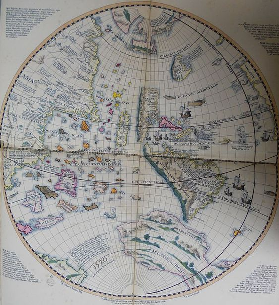 Schöner globe 1520 western hemisphere - Johannes Schöner globe - Wikipedia, the free encyclopedia