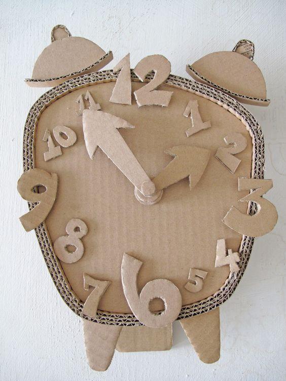 cardboard crafts - clock