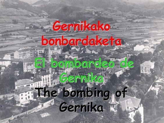 Gernikako irudiak bonbardaketa aurrean eta ostean.  Imágenes de Gernika antes y después del bombardeo. #Gernika #bombardeo #bonbardaketa