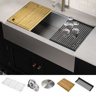 30++ Farmhouse sink with 8 inch apron best