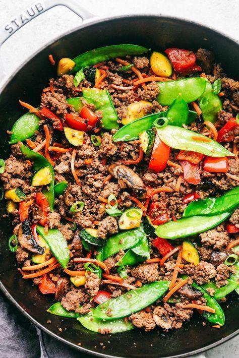 Korean Ground Beef Stir Fry The Recipe Critic Healthy Ground Beef Ground Beef Recipes Healthy Healthy Beef Recipes