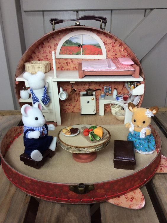 Calico Critter Land Calico Critters Furniture Mini Doll House Sylvanian Families House