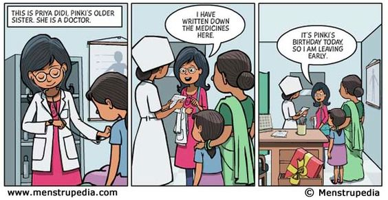 Using comics to educate girls about their menstrual cycle