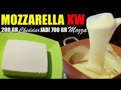 Keju Mozzarella Kw 4 Bahan Praktis Tanpa Blender Youtube Keju Resep Makanan Ringan Manis