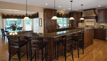Kitchen Islands With Seating | Island Stove Top Design Ideas, Pictures, Remodel, and Decor: