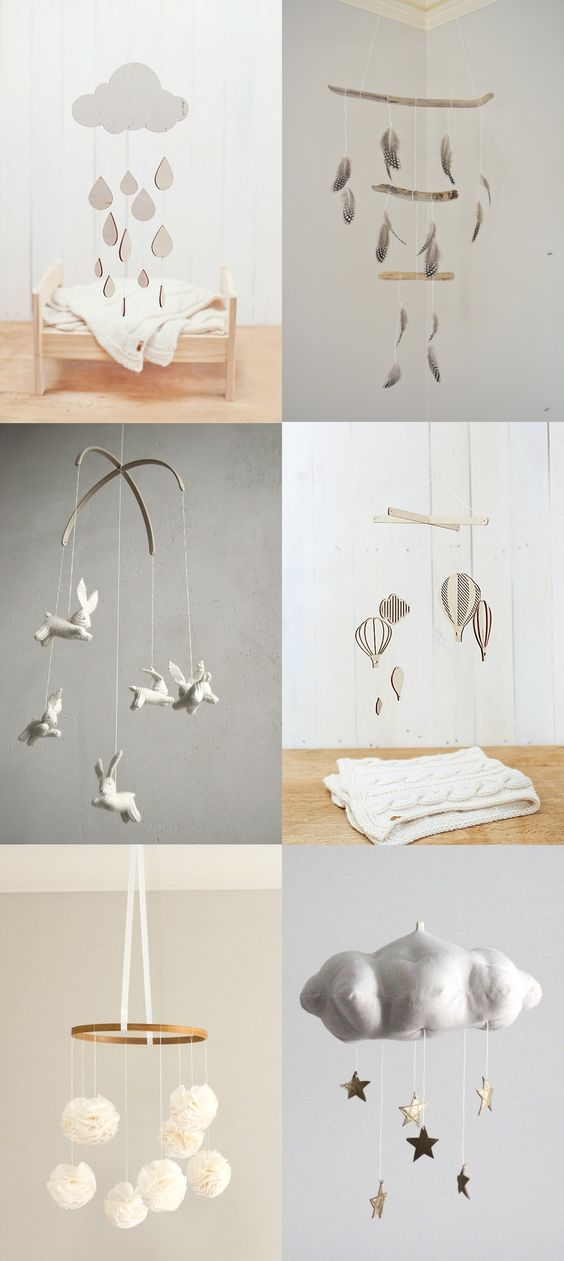 LOVE these!! Neutral Nursery Mobiles — Lily and Spice Interiors: