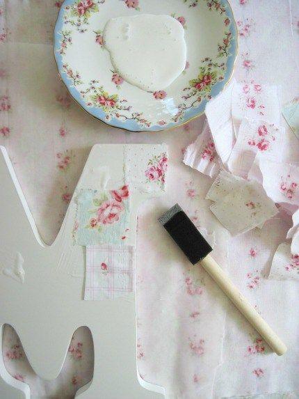 Love Letter Tutorial by Elyse Major Fabric Strips via weddings.craftgossip.com