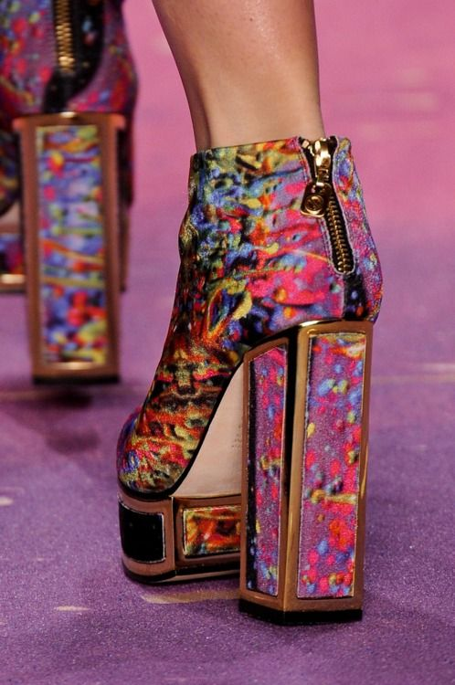 from obscure to demure, Details: Triya S/S 2013.: Shoes Platform, Fashion Style, Crazy Shoes, Shoes Boots, Details Triya, 2013 Shoes, Colorful Shoes, Platform Shoe, Shoes Shoes