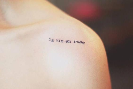 20 French Word Tattoos That Actually Mean Something French Word Tattoos Word Tattoos Shoulder Tattoo Words