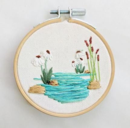 Easy aesthetic embroidery