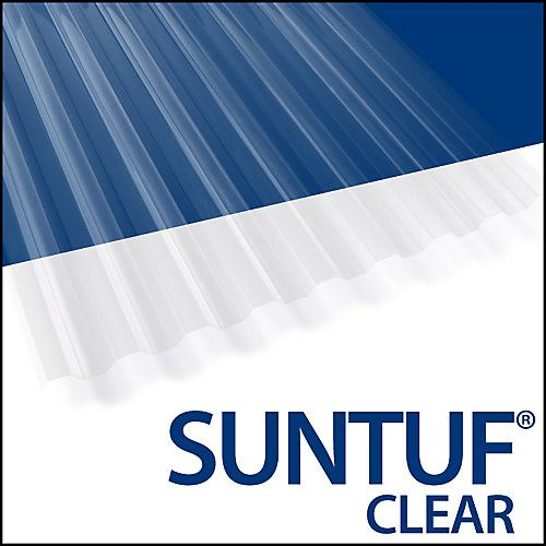 Suntuf Cor Pc12 Feet Clear The Home Depot Canada Roof Panels Polycarbonate Panels Pergola