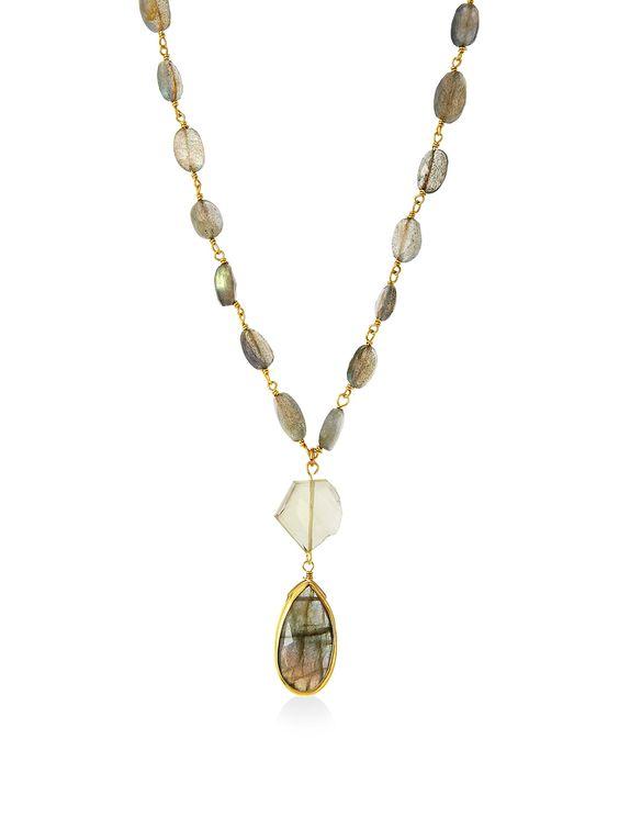 Rachel Reinhardt Labradorite & Citrine Bezel Necklace at MYHABIT
