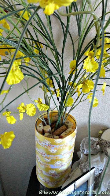 Ribbon wrapped vase