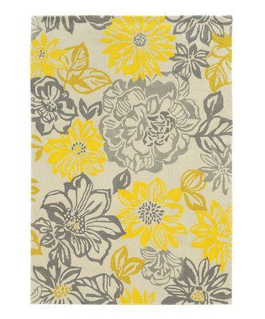Gray Floral Rug Home Decor