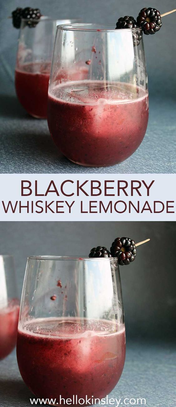 Blackberry Whiskey Lemonade | Hello Kinsley