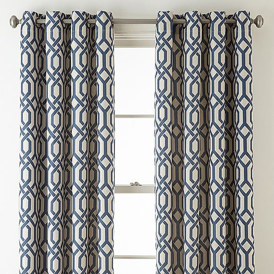 Jcpenney Home Pasadena Print Blackout Grommet Top Curtain Panel