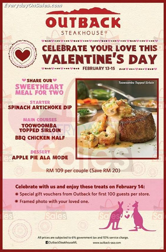 13 15 Feb 2015: Outback Steakhouse Valentineu0027s Day Promotion | Freebies U0026  Promotions | Pinterest | Outback Steakhouse And Promotion
